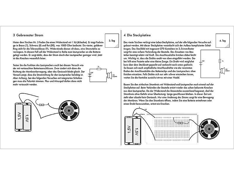 franzis bauset ukw radio adventskalender bausatz mit 24 experimenten elektronik baukasten kinder. Black Bedroom Furniture Sets. Home Design Ideas
