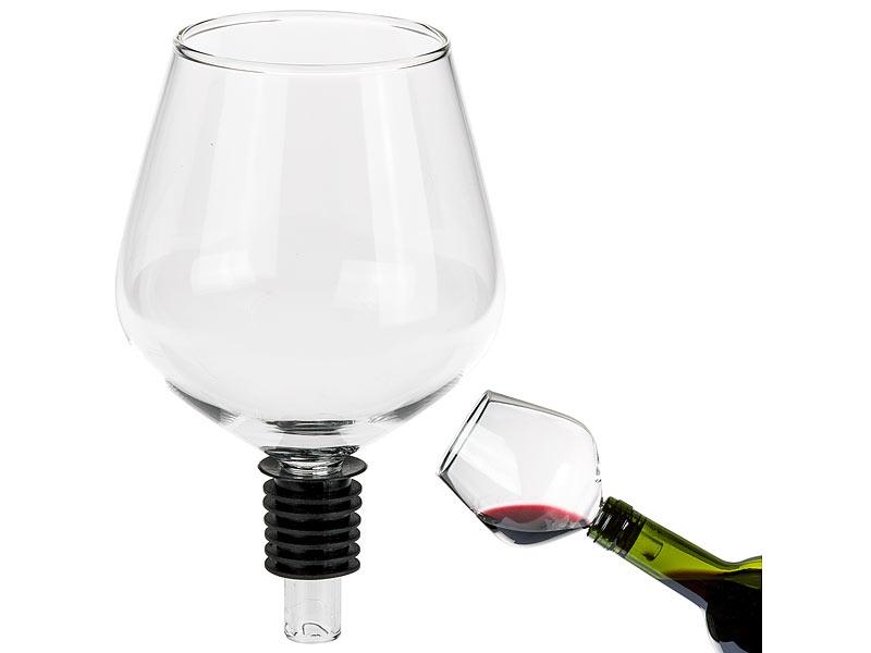Out of the blue Weinglas-Flaschenaufsatz mit Silikondichtung 8 x 13 cm
