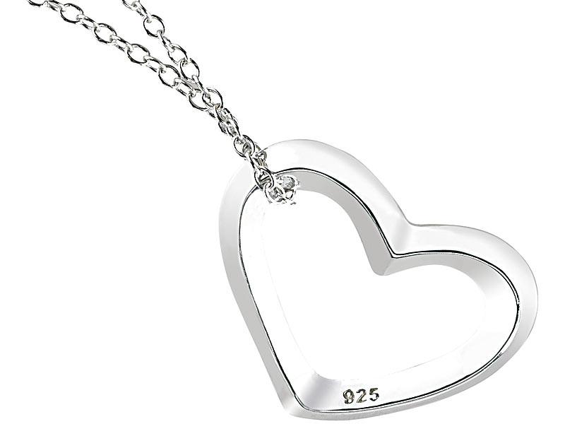 6051d07f9b55 St. Leonhard Echtsilber-Herzanhänger mit Kette, 925 Sterling-Silber