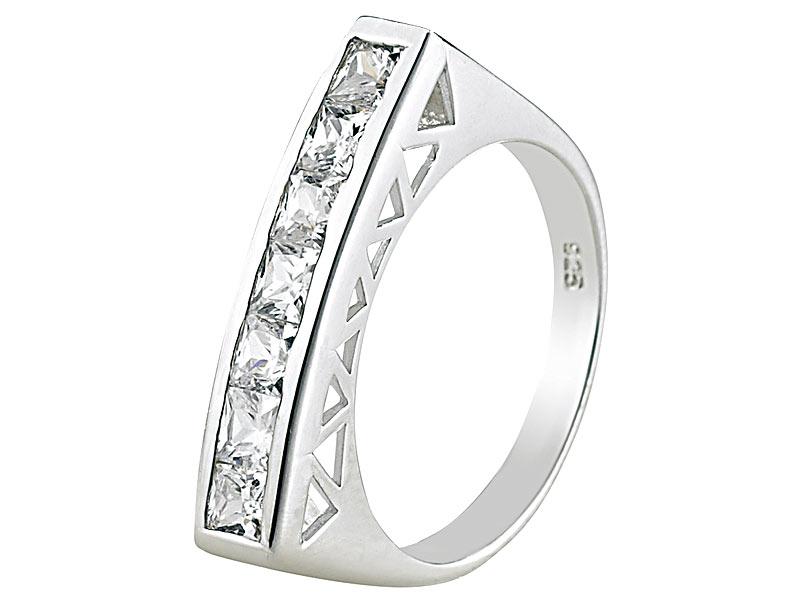 b00864ed95d0 St. Leonhard Damenschmuck: Silber-Ring mit Zirkonia, Größe 54 (Ø 17 ...