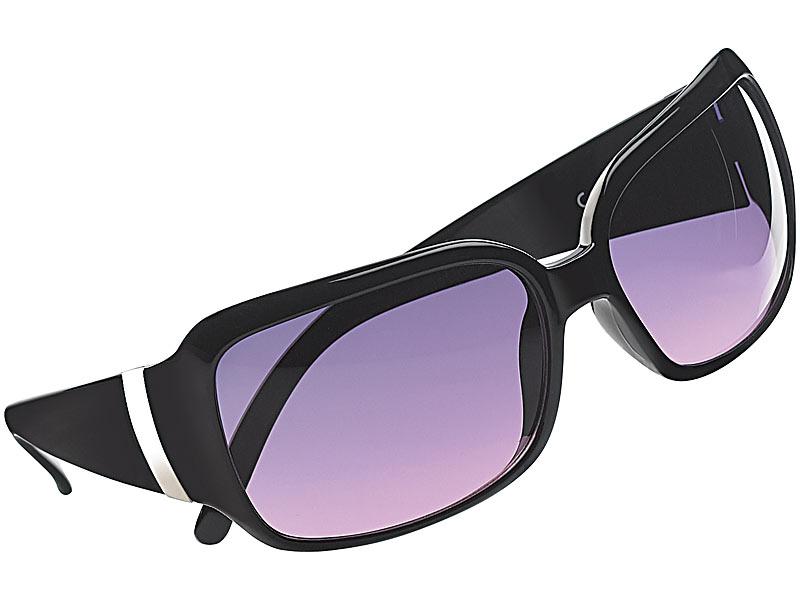 pearl butterfly sonnenbrille mit violetten gl sern schwarz. Black Bedroom Furniture Sets. Home Design Ideas
