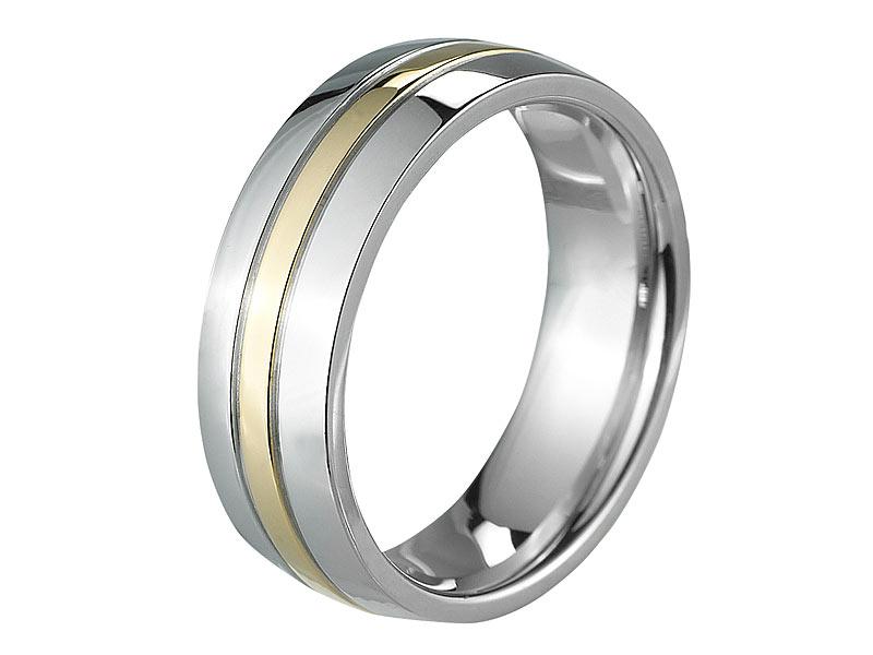 St Leonhard Bicolor Ring Fur Damen Herren Titan Gr 57