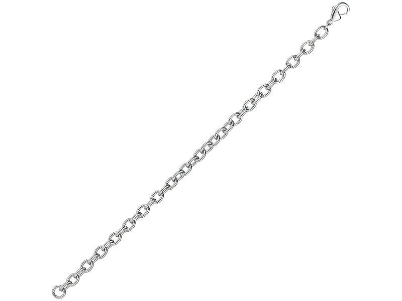 Glieder-Armband für Charm-Anhänger aus Edelstahl, 21 cm