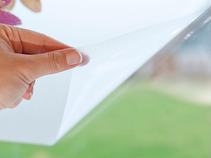 infactory sichtschutzfolie milchglasfolie statisch haftende sichtschutz folie 40 x 200 cm. Black Bedroom Furniture Sets. Home Design Ideas