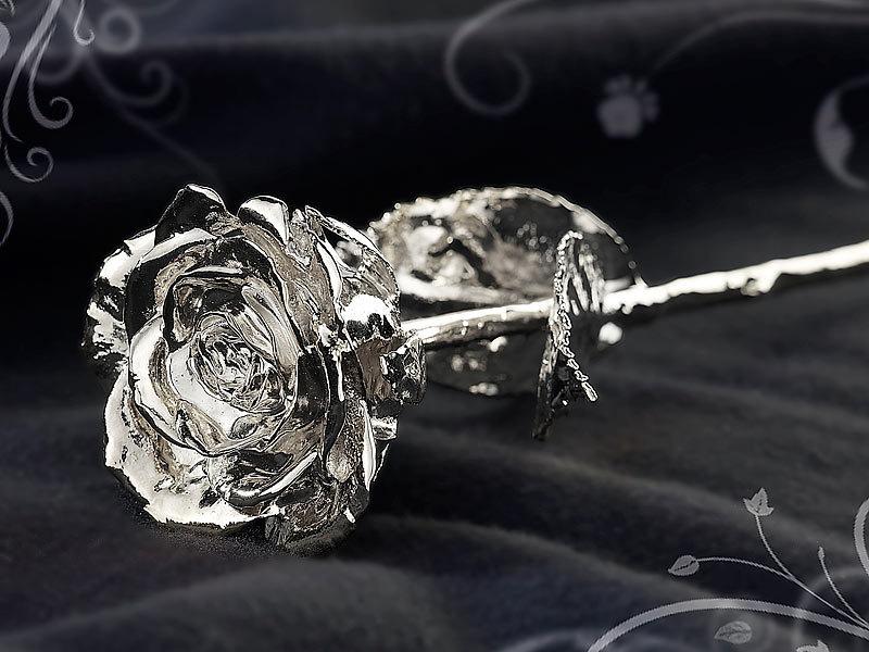st leonhard echte rose f r immer sch n versilbert 28 cm. Black Bedroom Furniture Sets. Home Design Ideas