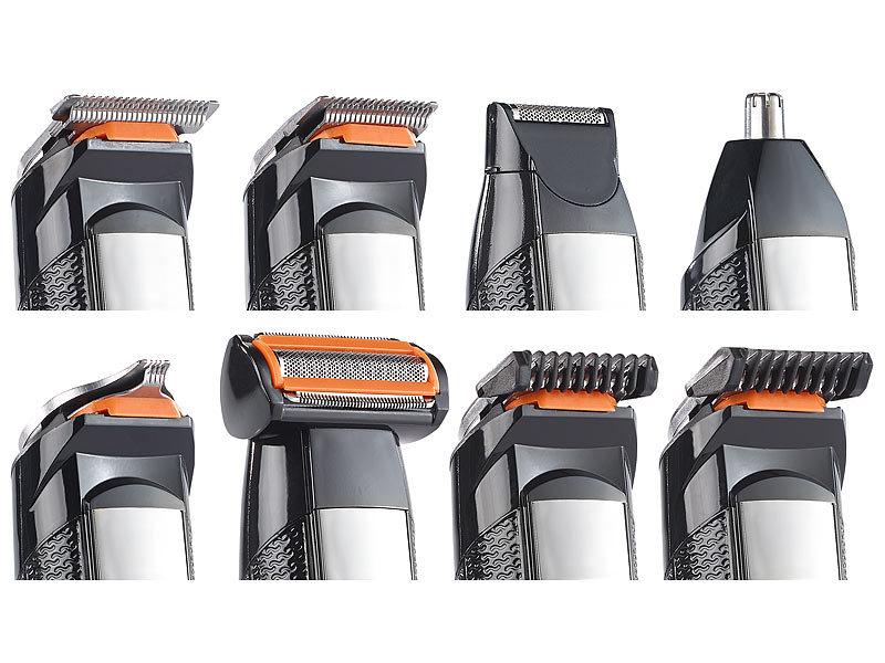 sichler haarschneidemaschine 6in1 akku trimmer set k rper bart rasierer haarschneider u v. Black Bedroom Furniture Sets. Home Design Ideas