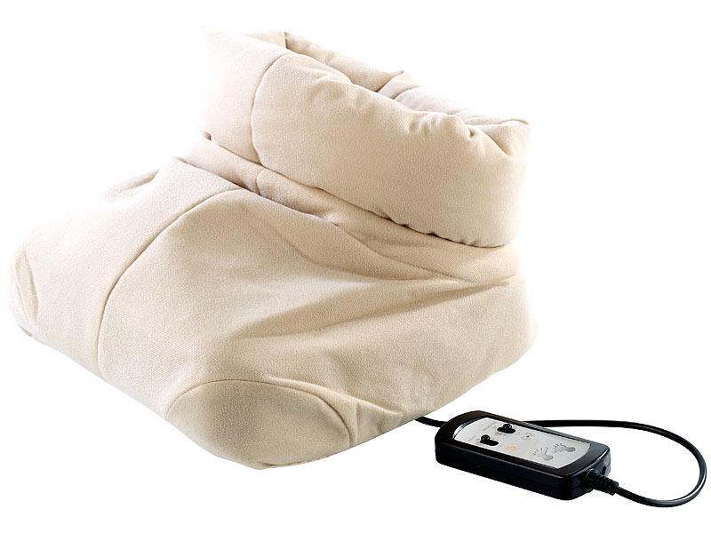 newgen medicals Fußmassage Geräte: Kuscheliger 2in1-Fußwärmer mit ...