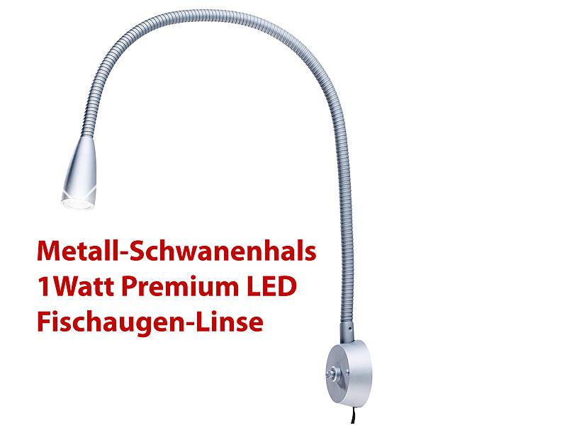 Lunartec Led Leuchte Mit Aluminium Schwanenhals