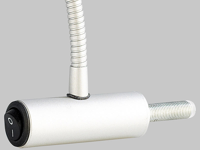 lunartec ultrahelle led-lampe mit metall-schwanenhals für