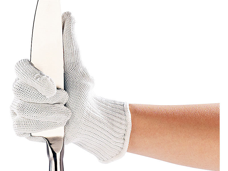 agt 1 paar nylon-stahl-handschuhe mit schnittschutz - Hitzeschutzhandschuhe Küche