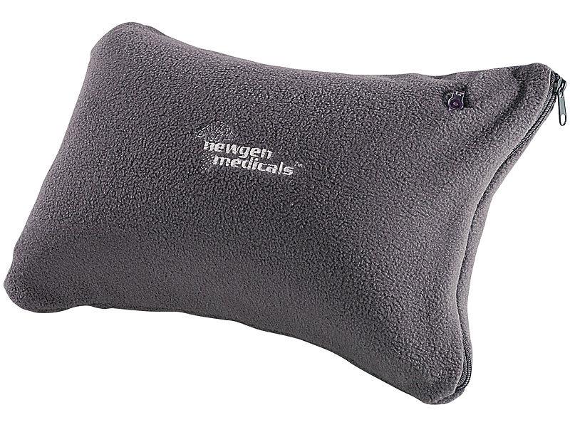 newgen medicals aufblasbares nacken und reisekissen mit fleece bezug dunkelgrau. Black Bedroom Furniture Sets. Home Design Ideas