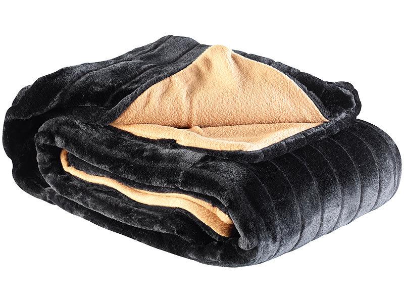 wilson gabor elegante kunstpelz decke nerz 200 x 150 cm schwarz. Black Bedroom Furniture Sets. Home Design Ideas