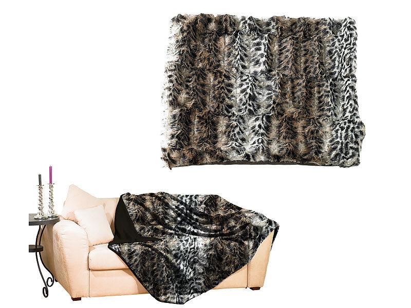 wilson gabor flauschige kunstpelz decke wildkatze 200 x. Black Bedroom Furniture Sets. Home Design Ideas