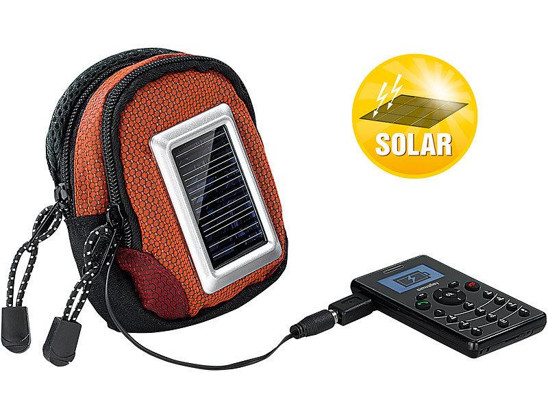 revolt 2in1 schutztasche usb powerbank mit solar panel. Black Bedroom Furniture Sets. Home Design Ideas