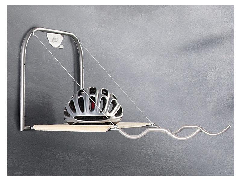 agt universal fahrrad wandhalterung mit ablage wh. Black Bedroom Furniture Sets. Home Design Ideas