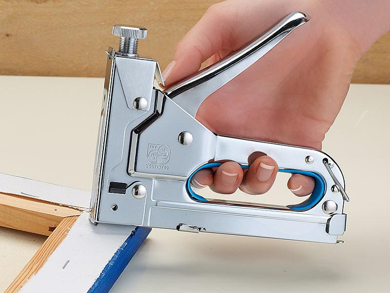 Agt Tacker 3in1 Handtacker Mit 600 Teiligem 8 Mm Klammer Sortiment