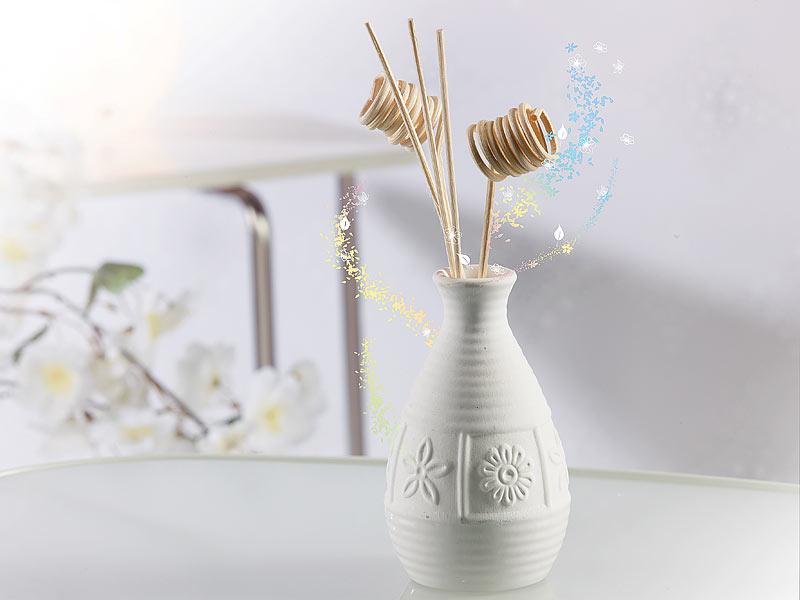 infactory aromadiffusor stilvoller keramik duftspender mit 12 diffusor st bchen duft spender. Black Bedroom Furniture Sets. Home Design Ideas