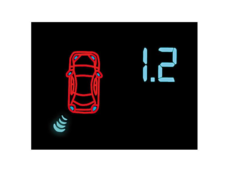 lescars r ckfahrhilfen einparkhilfe pa 480 8 sensoren 4 front 4 heck r ckspiegel display. Black Bedroom Furniture Sets. Home Design Ideas