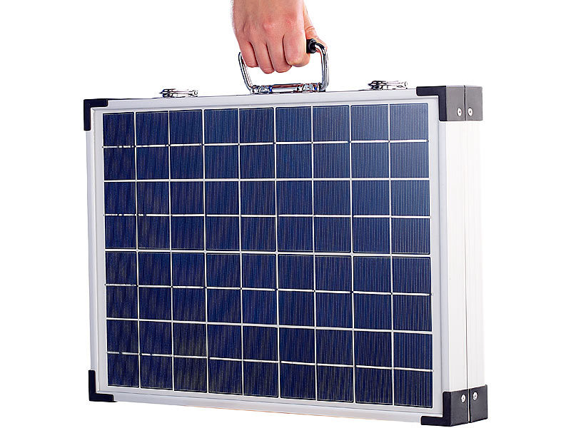 revolt solarzelle klappbares solarpanel pho 4000 mit tasche 40 w solarpanel f r wohnmobile. Black Bedroom Furniture Sets. Home Design Ideas
