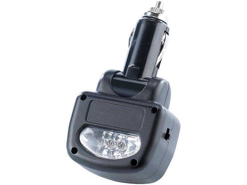 Lescars Kfz-Batterie-Tester mit LED-Lampe