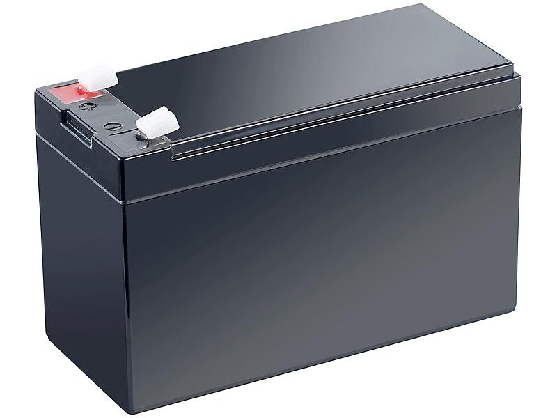 revolt wartungsfreie blei akku batterie mit 12 v 7 2 ah flachstecker 4 8 mm. Black Bedroom Furniture Sets. Home Design Ideas