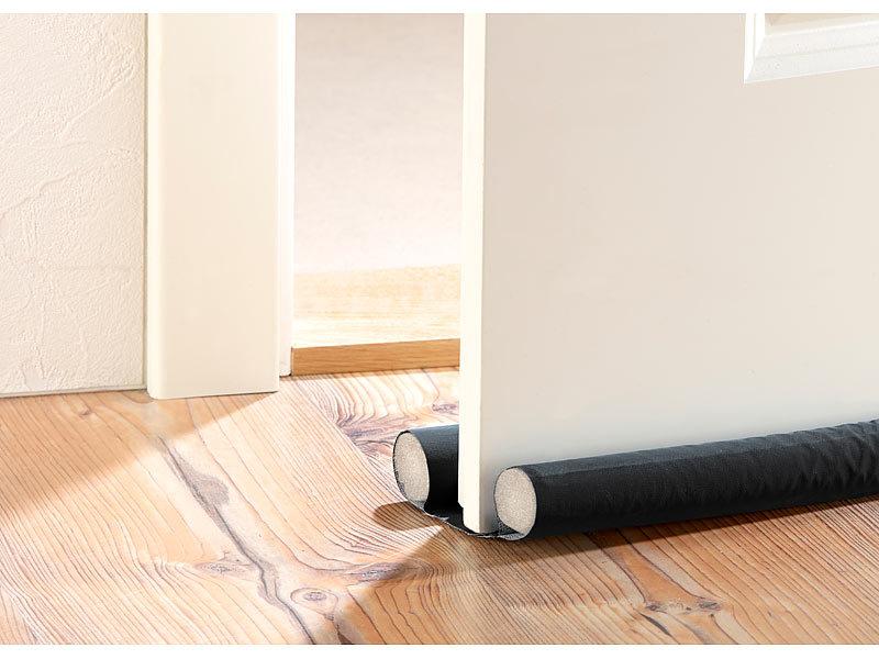 infactory zugluft stopper f r t ren bis 60 mm dicke schwarz. Black Bedroom Furniture Sets. Home Design Ideas