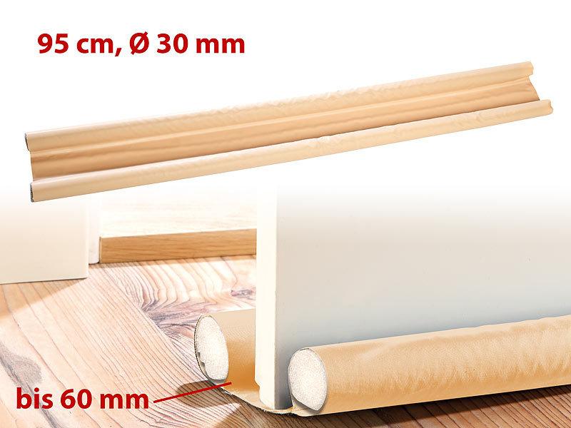 Zugluftstopper Tür Microfaser Türdichtung Türbodendichtung 90 cm