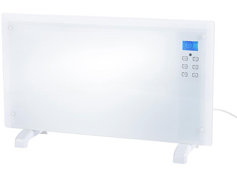 Carlo Milano Edler Premium-Glas-Konvektor mit Fernbedienung, 2000 W