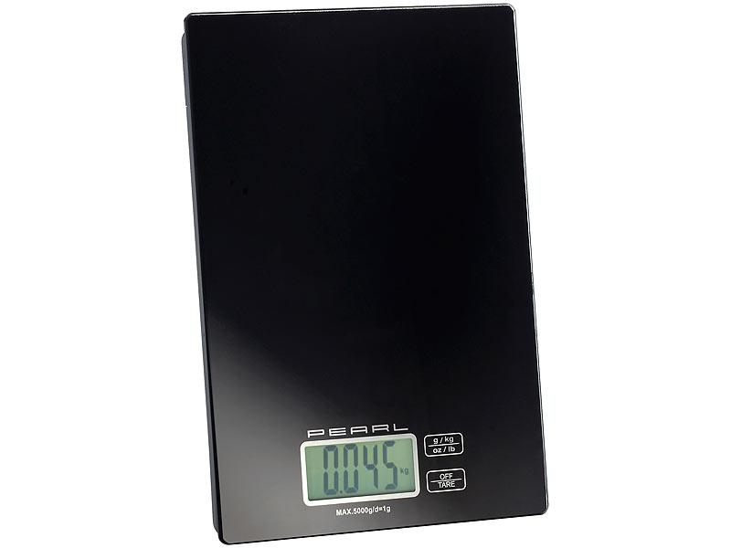PEARL Präzise Digitalwaage für Küche und Büro bis 5 kg