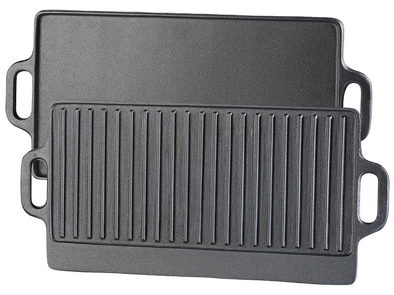 rosenstein s hne gusseisen grillplatten gusseiserne wende grillplatte f r ofen herd grill. Black Bedroom Furniture Sets. Home Design Ideas