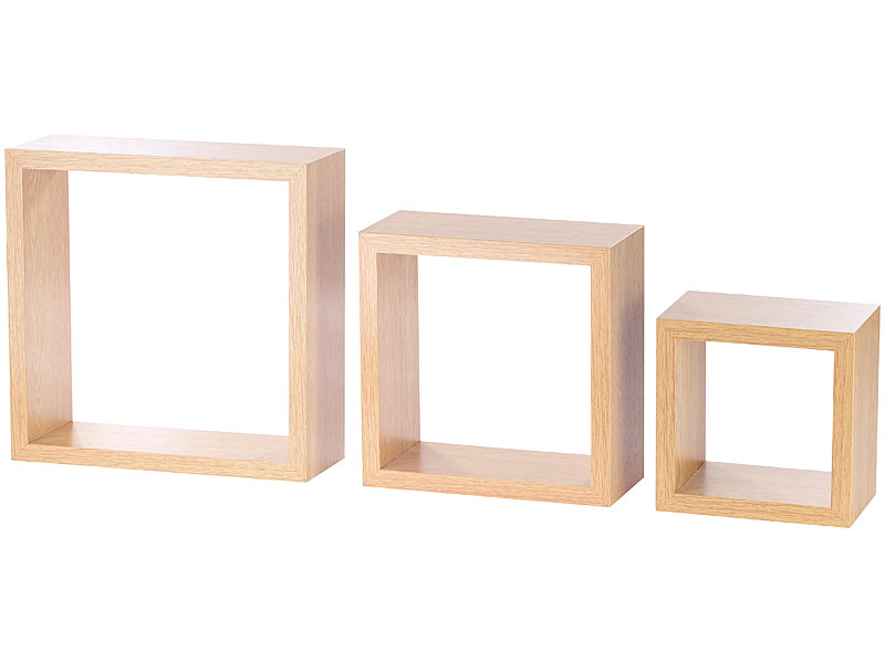 Schwebendes Wandregal carlo schwebendes wandregal 3er set quadratische wandregale