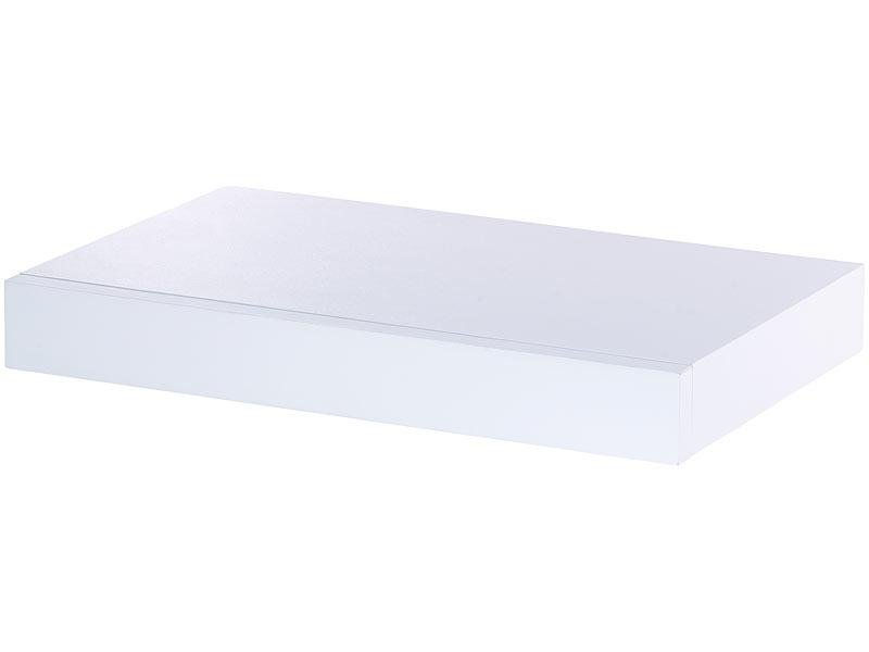 carlo milano wandregal mit versteckter schublade 40 x 5 x 25 cm wei. Black Bedroom Furniture Sets. Home Design Ideas