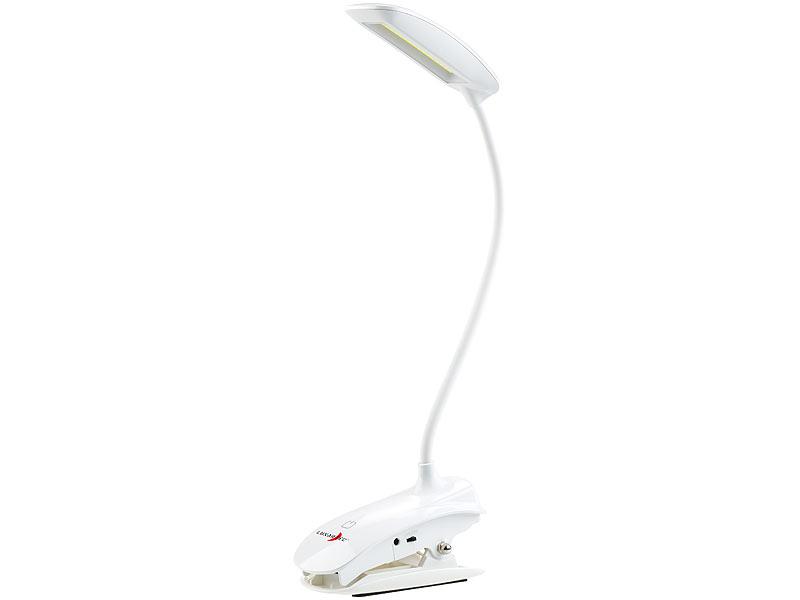 lunartec schwanenhals klemm lampe mit 3 watt cob led und akku usb ladefunktion. Black Bedroom Furniture Sets. Home Design Ideas