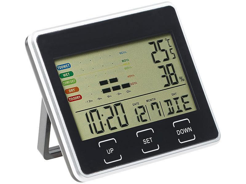 Digital Lcd Temperatur Und Feuchtigkeit Meter Uhr Alarm Kalender, Planer Und Karten