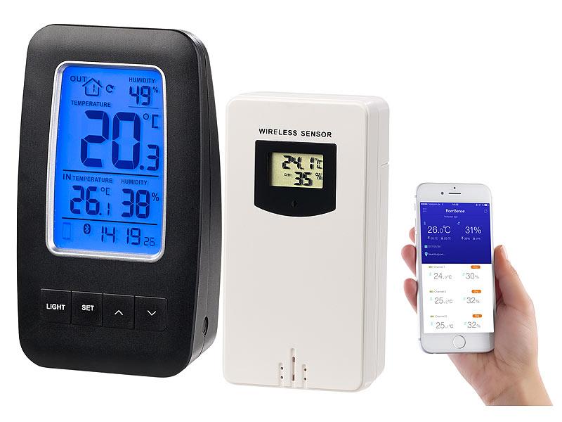 Thermometer/Hygrometer-Datenlogger mit Aussensensor & App-Unterstützung