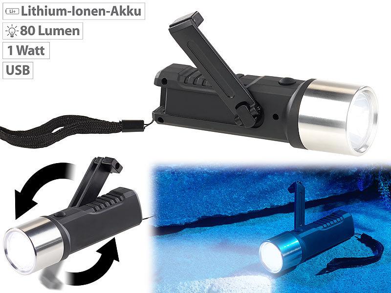 Dynamo LED Taschenlampe mit Ladefunktion Leuchte Lampe Hand Light Dynamolampe