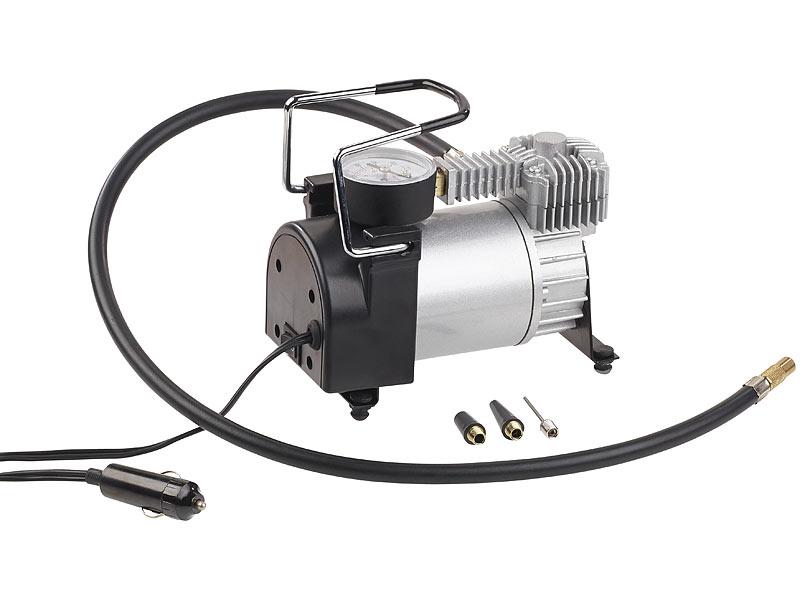 lescars mini luft kompressor mit manometer 12 v 100 psi 168 watt 3 adapter. Black Bedroom Furniture Sets. Home Design Ideas