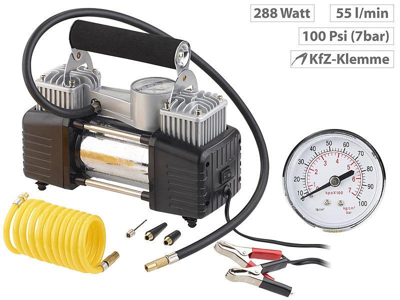 Fräscha Lescars 12V Kompressor: Mobiler Luft-Kompressor, Manometer, 12 V ZR-67