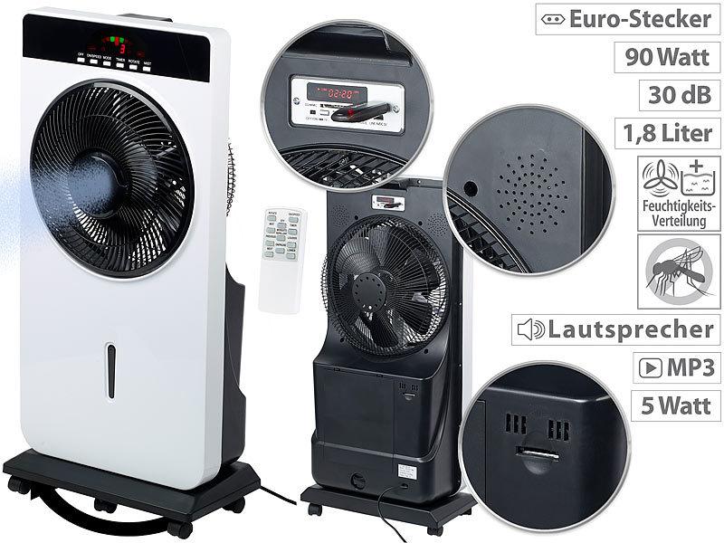 Sichler Luftkühler: Sprühnebel-Standventilator, Anti-Insekten, MP3 ...