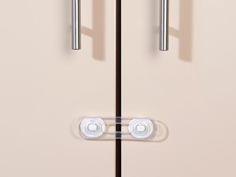 agt baby sicherungen 6er set flexible kinder sicherungen f t ren schubladen transparent. Black Bedroom Furniture Sets. Home Design Ideas