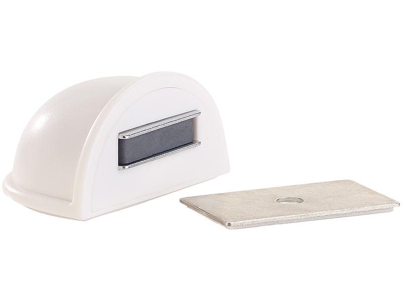 agt fensterstopper 2er set magnetische t rstopper selbstklebend wei zugluftstopper als. Black Bedroom Furniture Sets. Home Design Ideas