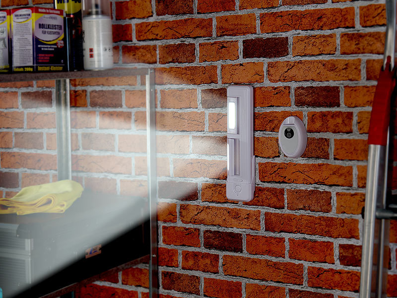 lunartec led mit batterie schrank unterbau leuchte mit 2 cob leds 2 watt 80 lumen fernbedien. Black Bedroom Furniture Sets. Home Design Ideas