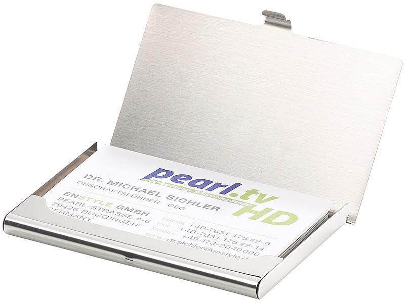 Pearl Visitenkartenetui Ultradünnes Visitenkarten