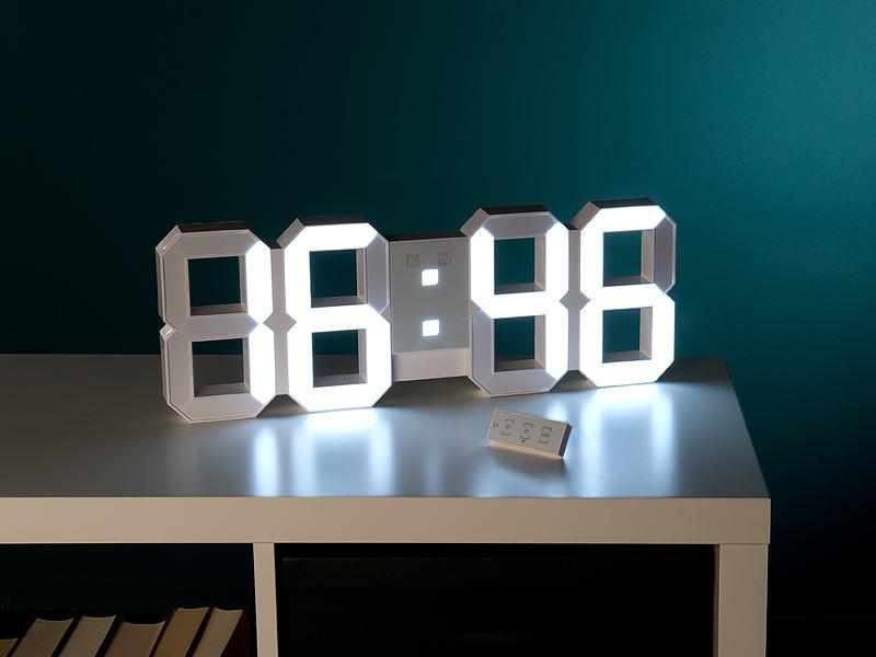 lunartec jumbo led uhr digitale xxl led tisch wanduhr. Black Bedroom Furniture Sets. Home Design Ideas