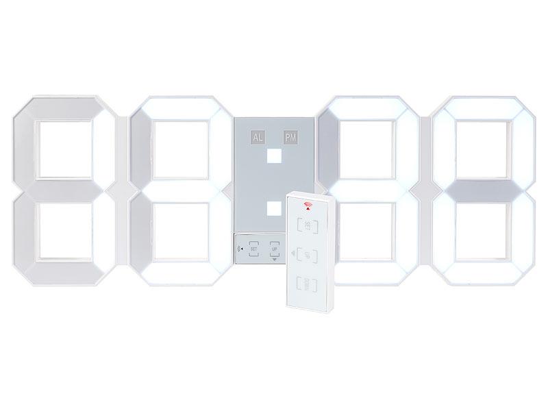 lunartec led uhr schlafzimmer digitale xxl led tisch. Black Bedroom Furniture Sets. Home Design Ideas