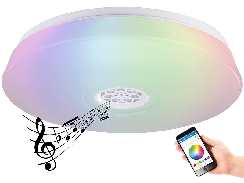 Luminea Deckenlampe: RGBW-LED-Deckenleuchte, Lichtwecker