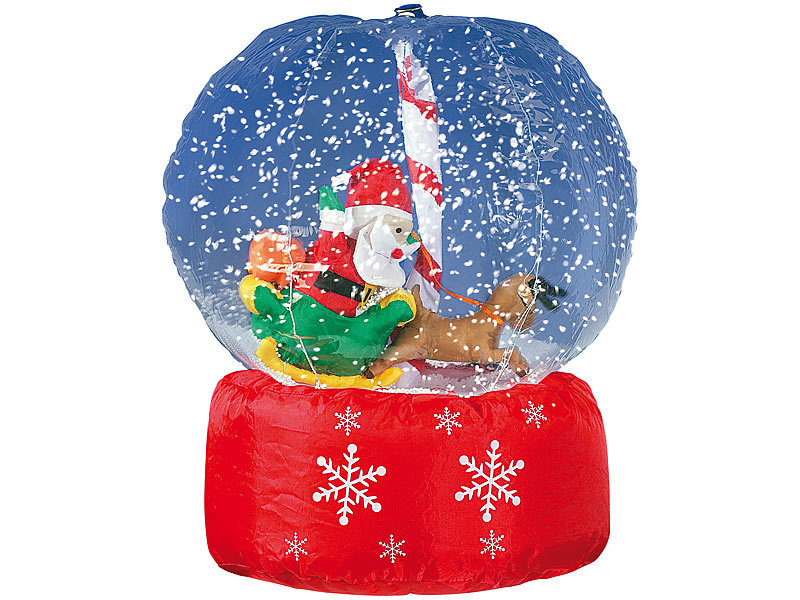 Weihnachtsdeko Schneekugel.Infactory Aufblasbare Schnee Kugel Riesen Xxl Schneekugel Mit