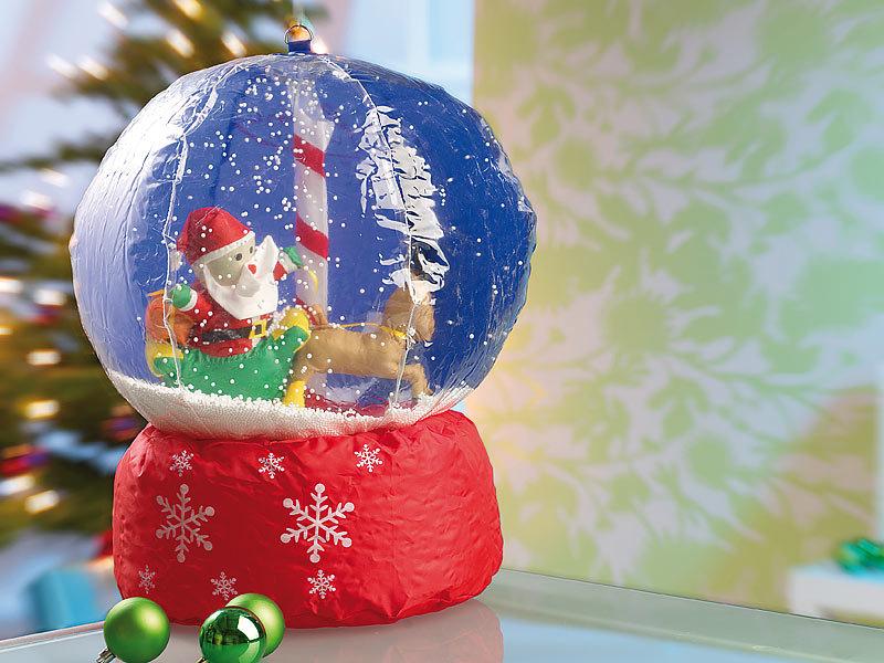 Weihnachtsdeko Kugeln Groß.Infactory Aufblasbare Schnee Kugel Riesen Xxl Schneekugel Mit