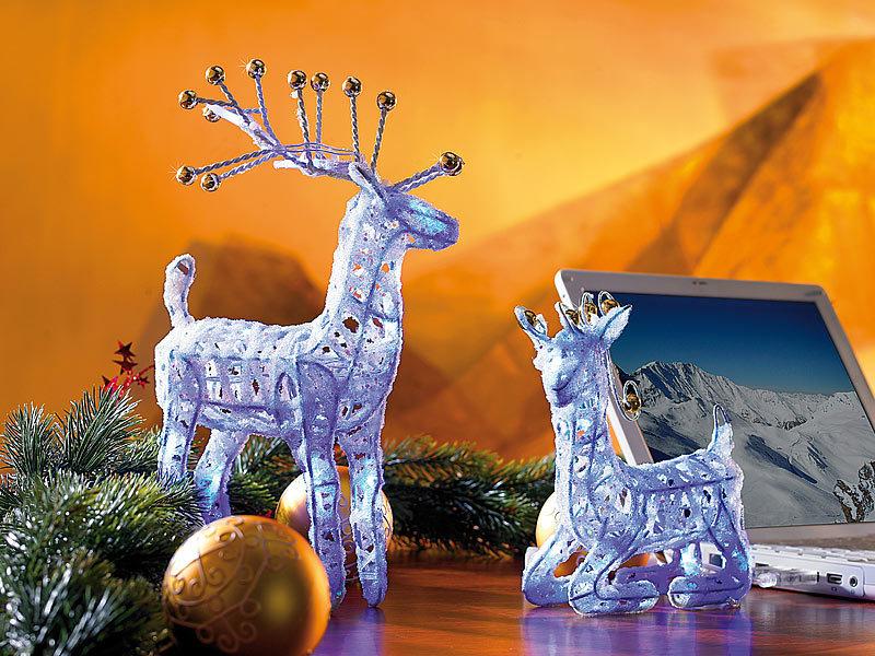 Lunartec led deko weihnachten santa claus 39 rentier - Weihnachtsdeko blau ...