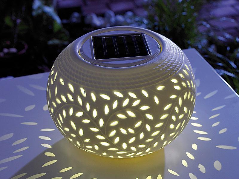 lunartec solar tischleuchten solar dekoleuchte aus. Black Bedroom Furniture Sets. Home Design Ideas